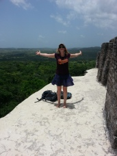 On top of the tallest ruins at Xunantunich