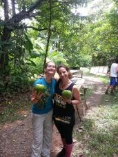 Jungle work breaks include fresh coconut water. Ok.
