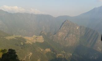 First glance of Machu Picchu