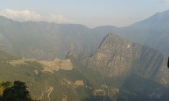 First glance of Machu Picchu