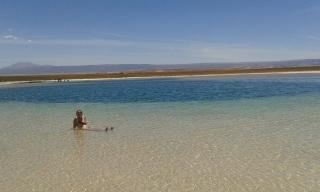 Floatin in salt water in the desert!