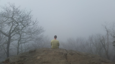 Apparently sometimes you can see Atlanta from the summit. The fog had it's own mystery that we quite enjoyed.