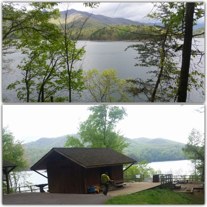Views from the Fontana Dam shelter known as