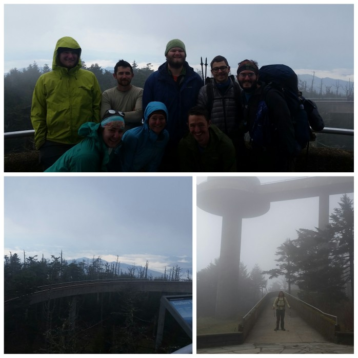 Clingmans Dome looks more like Clingmans Spaceship in the fog