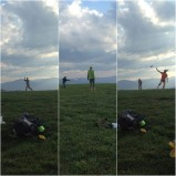 Epic game of disc on the mountain