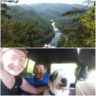Nolichucky River from above. Thanks for the ride, guys!!