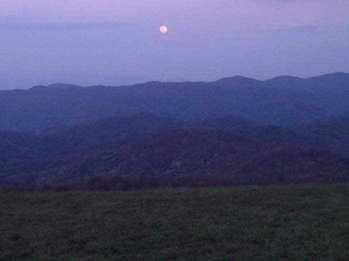 Full moon over Max Patch
