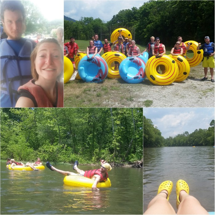 Tubing down the James River