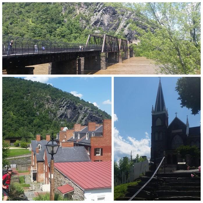 Harpers Ferry, WV. Maryland across the bridge