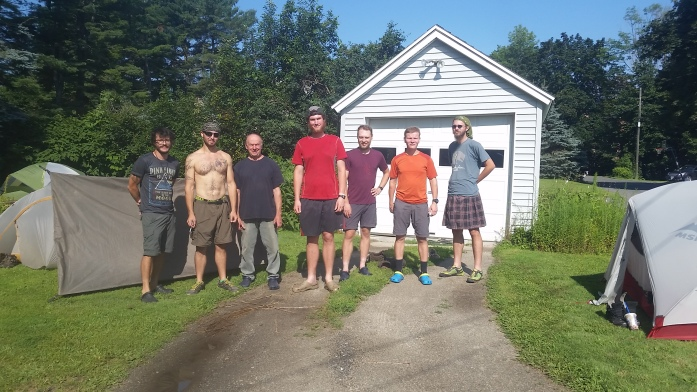 Tom Lavardi (blue shirt, next to BigFoot) and a group of very happy hikers. Thanks for everything, Tom!!!