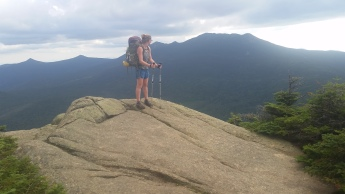 On top of Mt Albert glancing at Franconia Ridge behind me