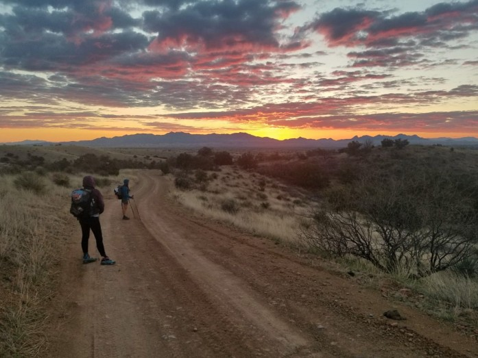 Stunning sunrise on the Arizona Trail