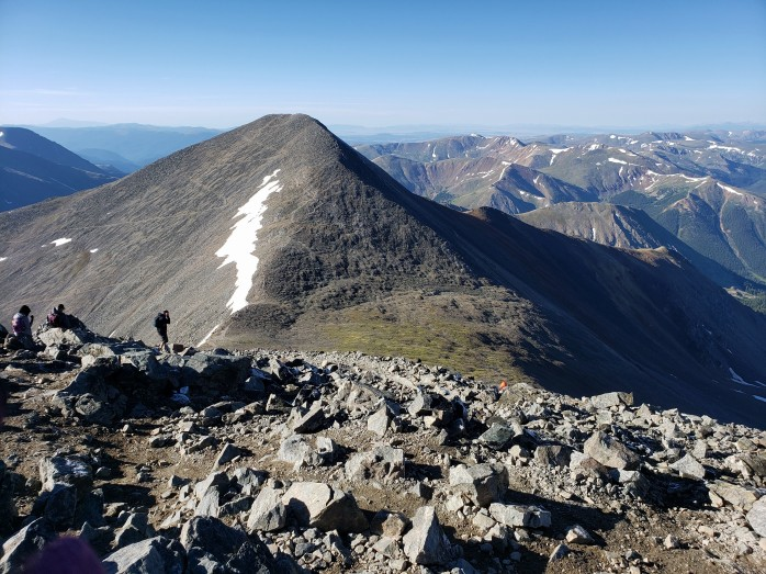 View of Grays Peak from Torreys Peak