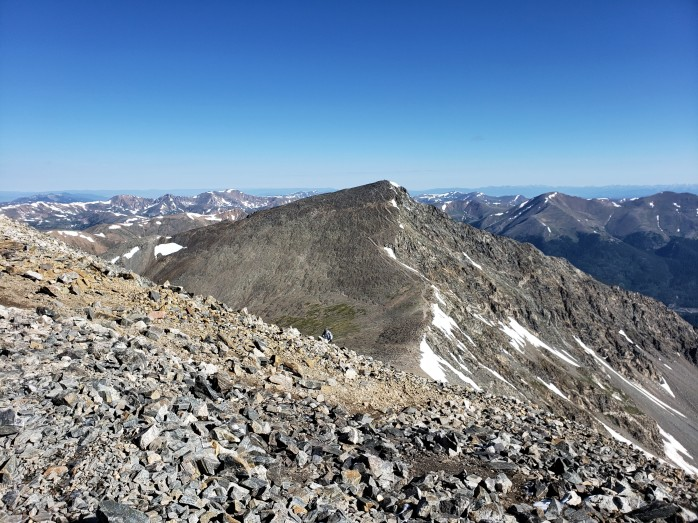 View of Torreys from Grays Peak