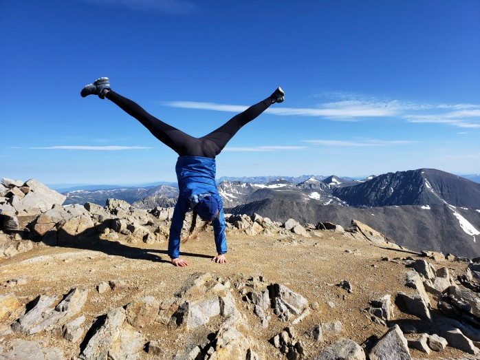Cartwheels on top of Mount Lincoln