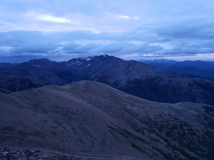 Mount Massive from Mount Elbert