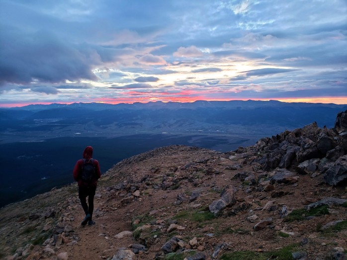 Sunrise from Mount Elbert