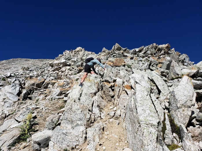 Climbing Mt Yale's East Ridge