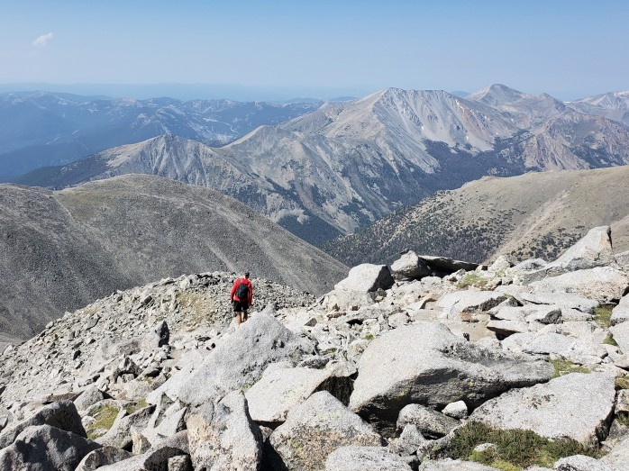 Descending Mt Antero