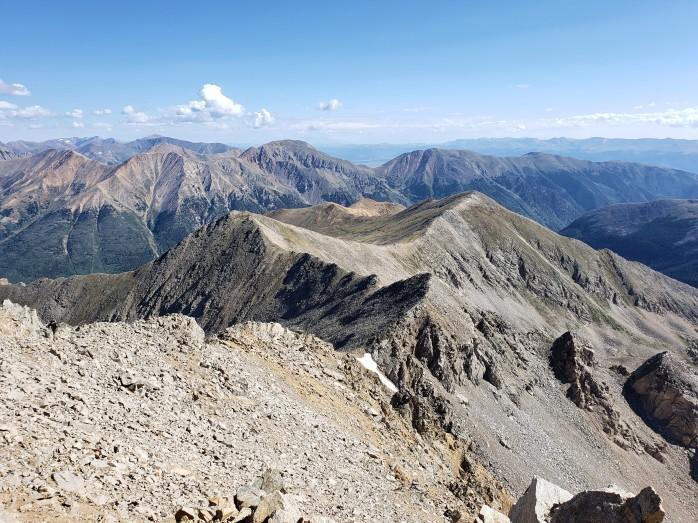 Huron Peak trail from Lulu Gulch