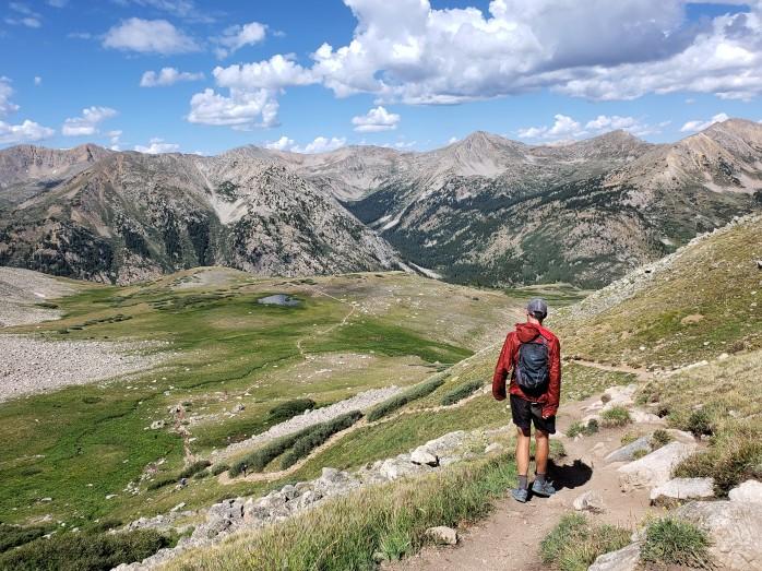 Heading down Huron Peak's main trail